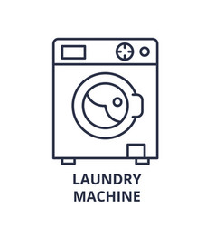 laundry machine line icon concept laundry machine vector image