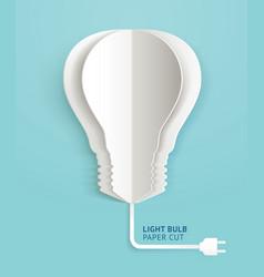 Light bulb paper cut vector