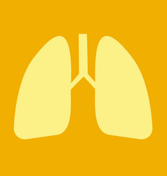 Lungs icon flat style internal organs of the vector