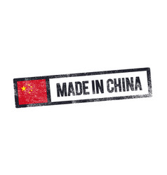 Made in china label chinese product stamp vector