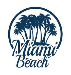 miami beach california seal vector image