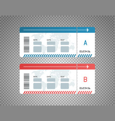 Modern flight tickets design template vector