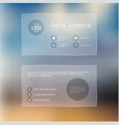 Modern transparent business card template vector