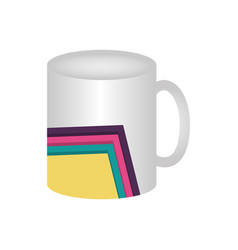 mug with lines colored vector image
