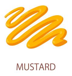 Mustard icon isometric style vector