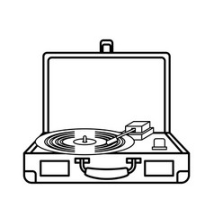 Old record player vinyl record vector