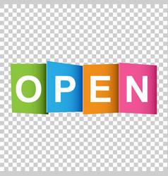 open tag market message flat on white background vector image