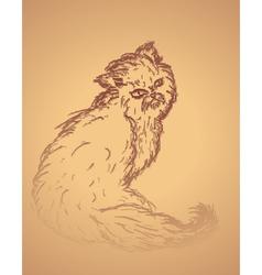 Persian cat sketch2 vector