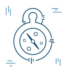 pocket clock to delivery pack at time vector image