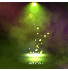 Premiere Green Show background sparkles Smoky vector
