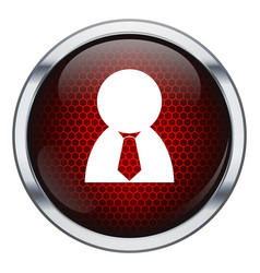 Red honeycomb business man icon vector image