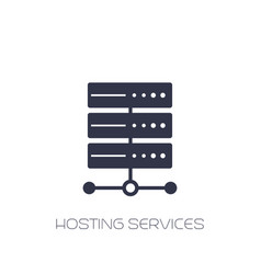 Server hosting services icon on white vector