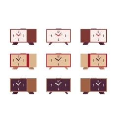 Set of retro alarm clocks vector