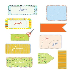 Sewing and needlwork set for handmade vector image