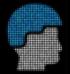 Soldier helmet halftone icon vector