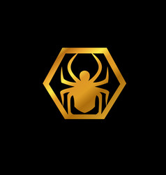 spider emblem logo animal logo design concept vector image
