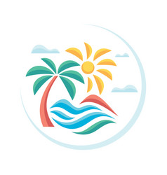 summer tropical vacation - concept advertising vector image