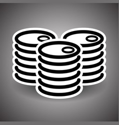 symbol of three oil barrels canisters fossil fuel vector image