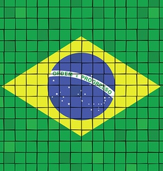 The mosaic flag of brazil vector image vector image