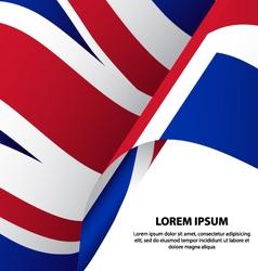 The United Kingdom UK Waving Flag Background vector image