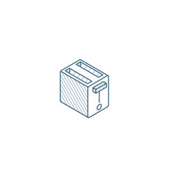 toaster isometric icon 3d line art technical vector image