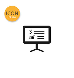 training presentation board icon isolated flat vector image