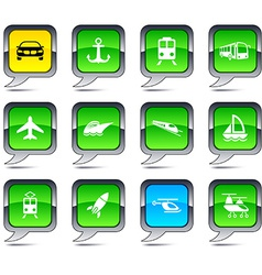Transport balloon icons vector