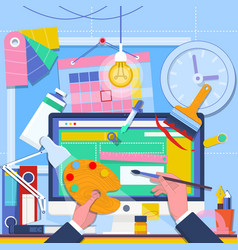 web design and freelance concept web vector image