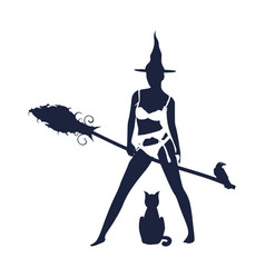 Young witch icon vector