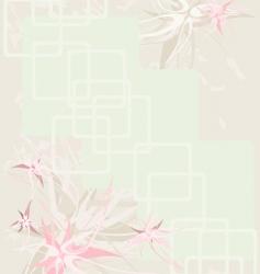 background flower vintage vector image