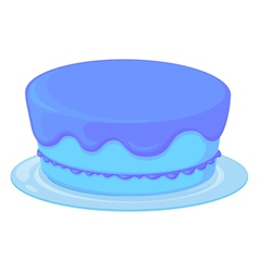 blue cake in a dish vector image vector image