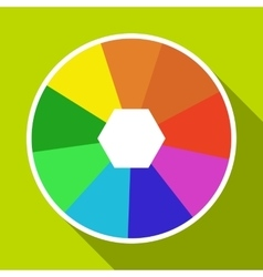 Color wheel icon flat style vector
