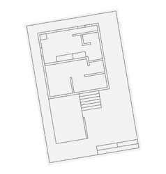 House floor plan icon for ui or app vector image