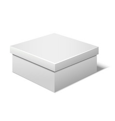 realistic template blank white box vector image vector image