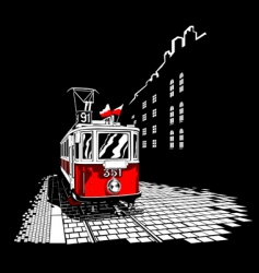 tram vector image vector image