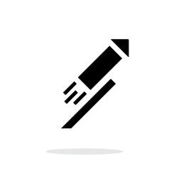 Festive rocket simple icon on white background vector image