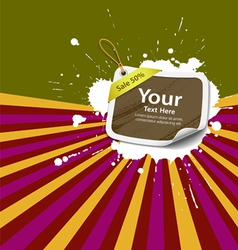 Sale Price tag colorful background vector image vector image