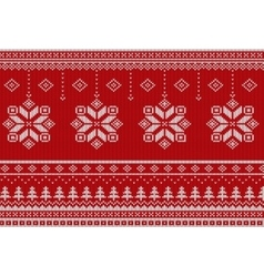 Scandinavian Merry Christmas style seamless vector image