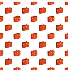 Suitcase pattern cartoon style vector image