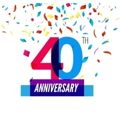 Anniversary design 40th icon anniversary vector image vector image
