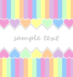 baby background with two lines pastel colors vector image vector image