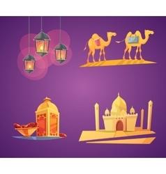 Ramadan Cartoon Icons vector image
