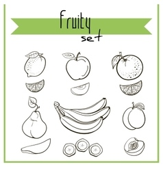 FruitySet2 vector image vector image