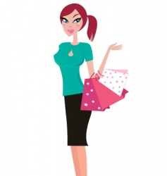 girlk shopping vector image