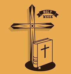 holy week catholic tradition vector image vector image