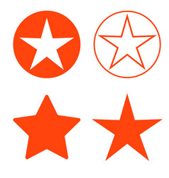 isolated red star icon ranking mark vector image vector image