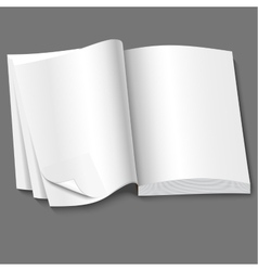 open of book with blank white pages vector image