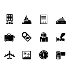 Silhouette vacation and holidays icon vector image vector image