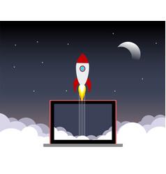 space rocket launch vector image