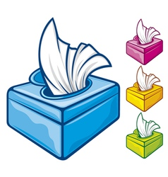 tissue boxes vector image vector image